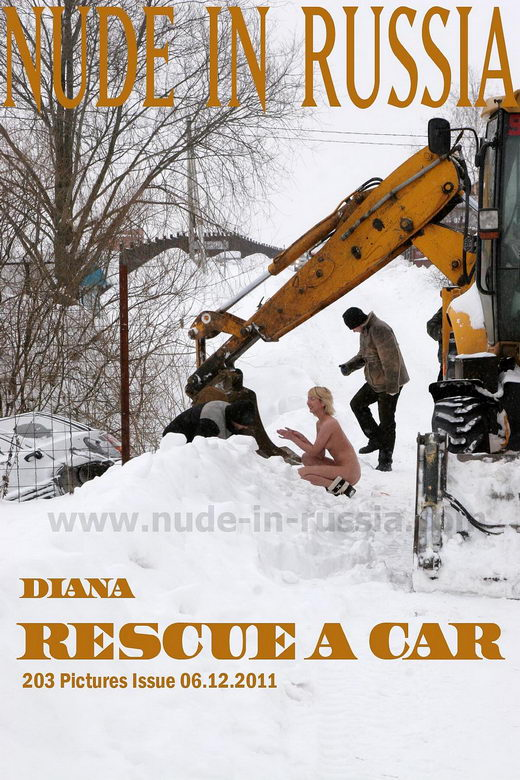 Diana - `Rescue a Car` - for NUDE-IN-RUSSIA