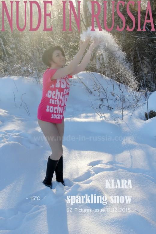 Klara - `Sparkling Snow` - for NUDE-IN-RUSSIA