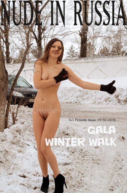 Gala in Winter Walk gallery from NUDE-IN-RUSSIA