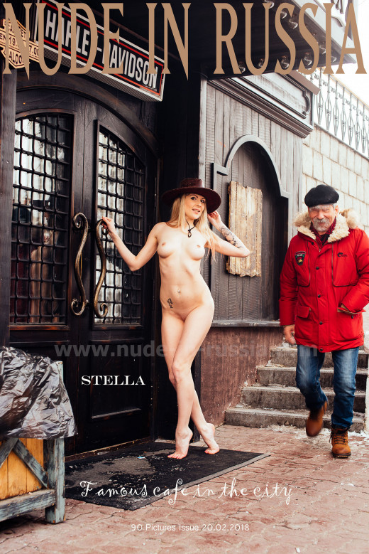 Stella - `Famous Cafe in the city` - for NUDE-IN-RUSSIA