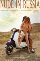 Renara with a guy on the scooter at the Sun Valley in Crimea gallery from NUDE-IN-RUSSIA