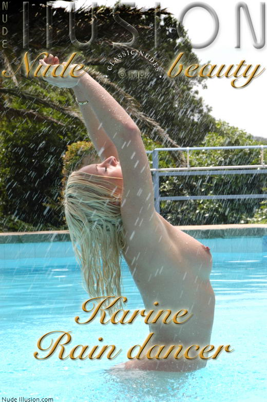 Karine - `Rain dancer` - by Laurie Jeffery for NUDEILLUSION