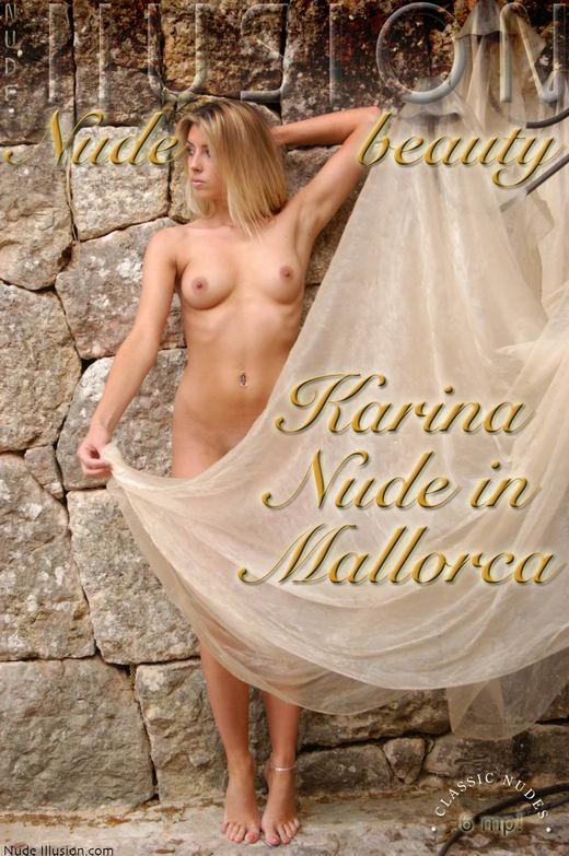 Karina - `Nude in Mallorca` - by Laurie Jeffery for NUDEILLUSION