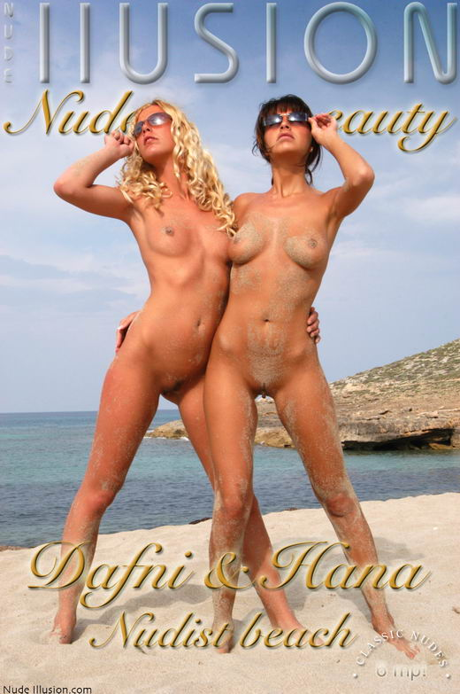 Dafni & Hana - `Nudist  beach` - by Laurie Jeffery for NUDEILLUSION