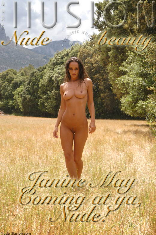 Janine May - `Coming at ya, Nude!` - by Laurie Jeffery for NUDEILLUSION