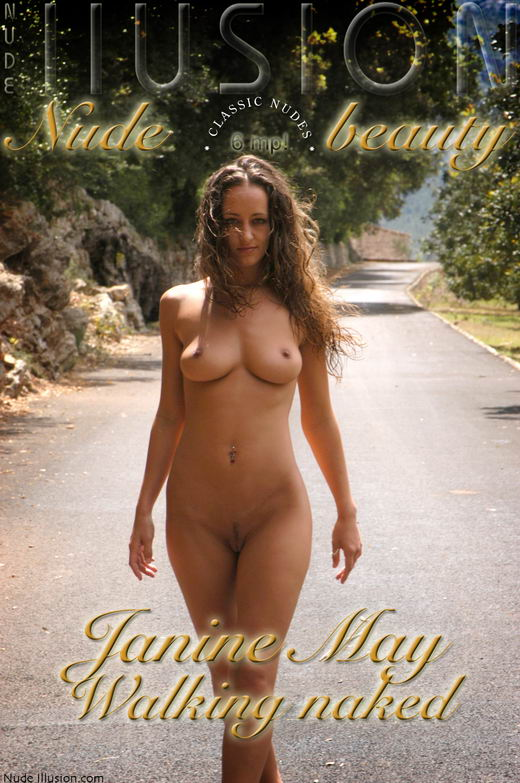 Janine May - `Walking naked` - by Laurie Jeffery for NUDEILLUSION