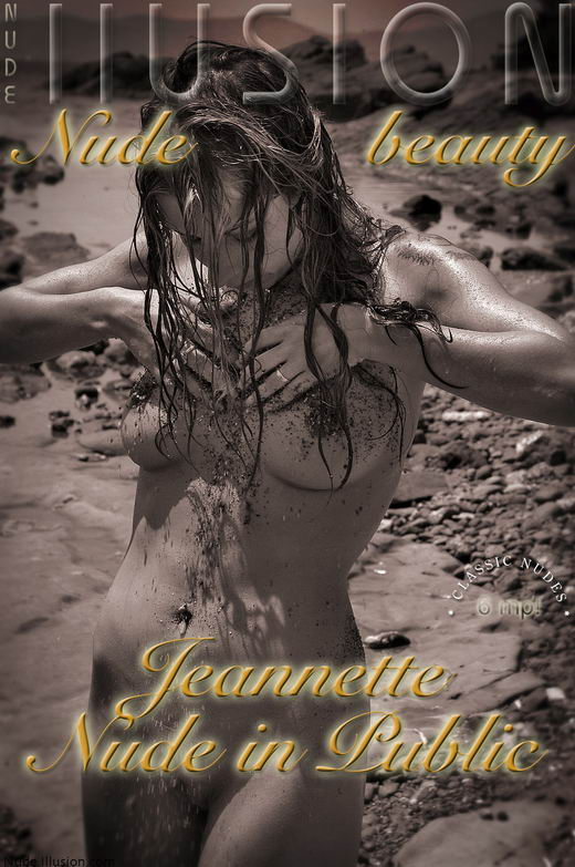 Jeannette - `Nude in Public` - by Laurie Jeffery for NUDEILLUSION
