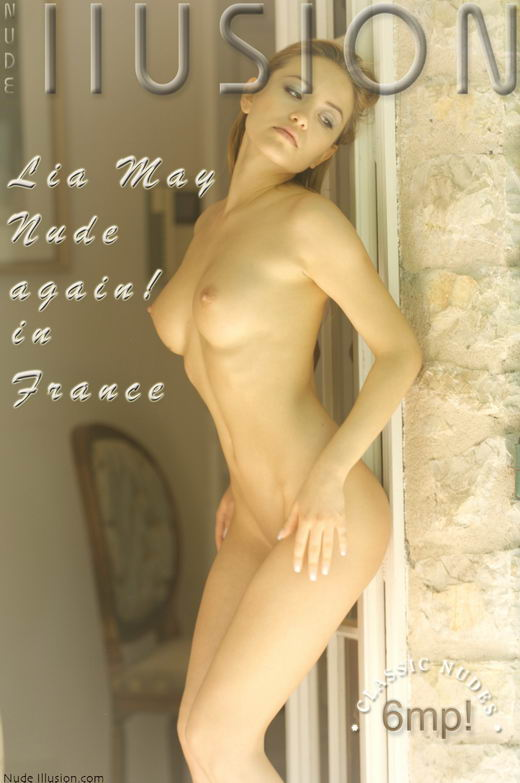 Lia May - `Nude again! in France` - by Laurie Jeffery for NUDEILLUSION