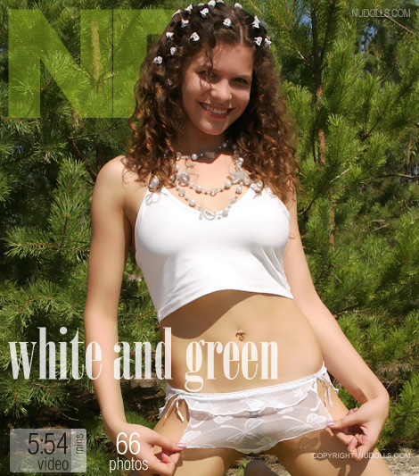 Natasha - `White and Green` - for NUDOLLS