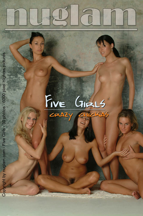 Anna & ? & Lucy & Alena & Romy - `Five Girls` - by Mik Hartmann for NUGLAM