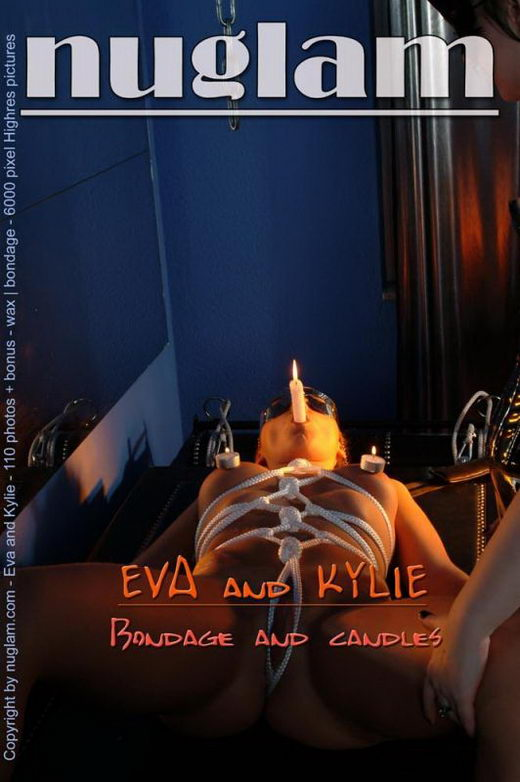 Eva & Kylie - `Bondage and Candles` - by Mik Hartmann for NUGLAM