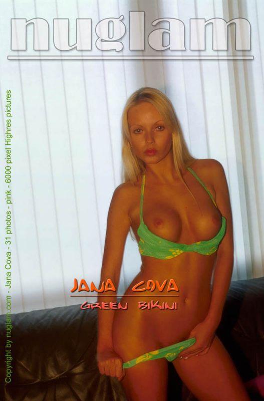 Jana Cova - `Green Bikini` - by Mik Hartmann for NUGLAM