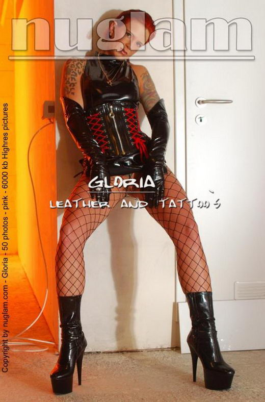 Gloria - `Leather Fetish` - by Mik Hartmann for NUGLAM