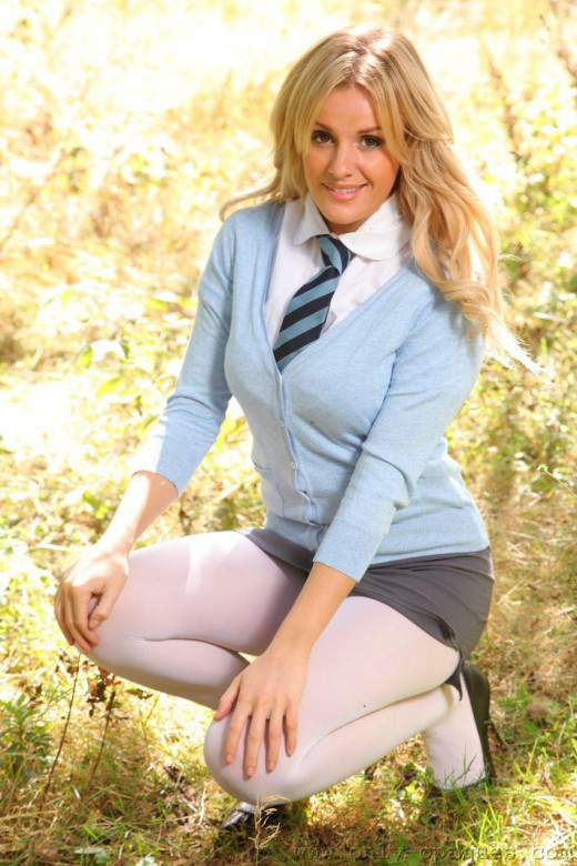 Schoolgirl Amy Green gets punished by her mistress and shows her tits  1147898