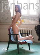 Kristina in old armchair