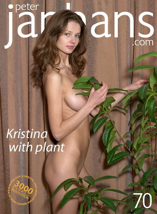 Kristina - `Kristina with plant` - by Peter Janhans for PETERJANHANS