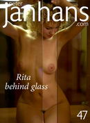 Rita behind glass