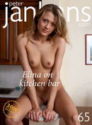 Elina on kitchen bar