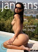 Zuzana on ledge