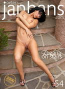 Zuzana on stairs