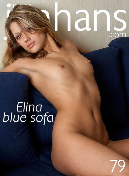 Elina - `Elina blue sofa` - by Peter Janhans for PETERJANHANS