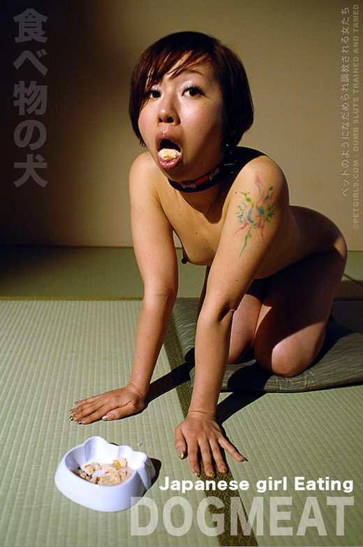 `Japanese Girl Eating Dogmeat` - for PETGIRLS