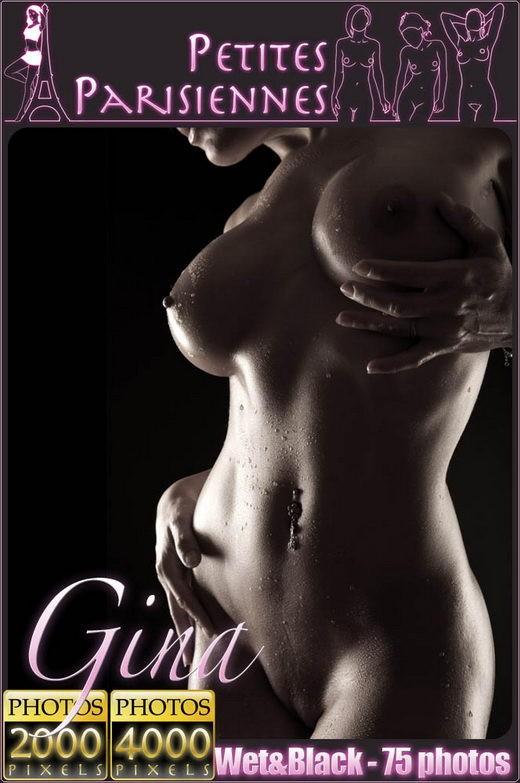 Gina - `Wet & Black` - for PETITES PARISIENNES