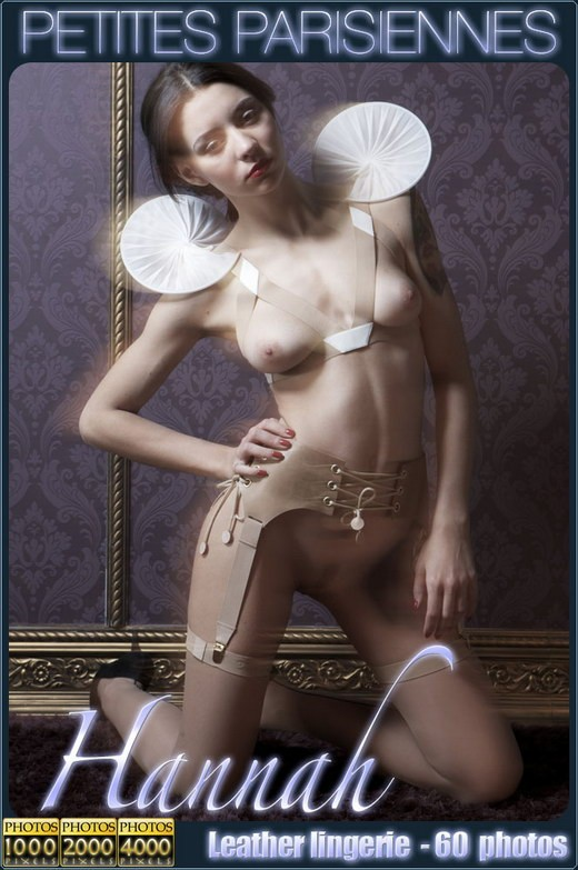 Hannah - `Leather Lingerie` - for PETITES PARISIENNES