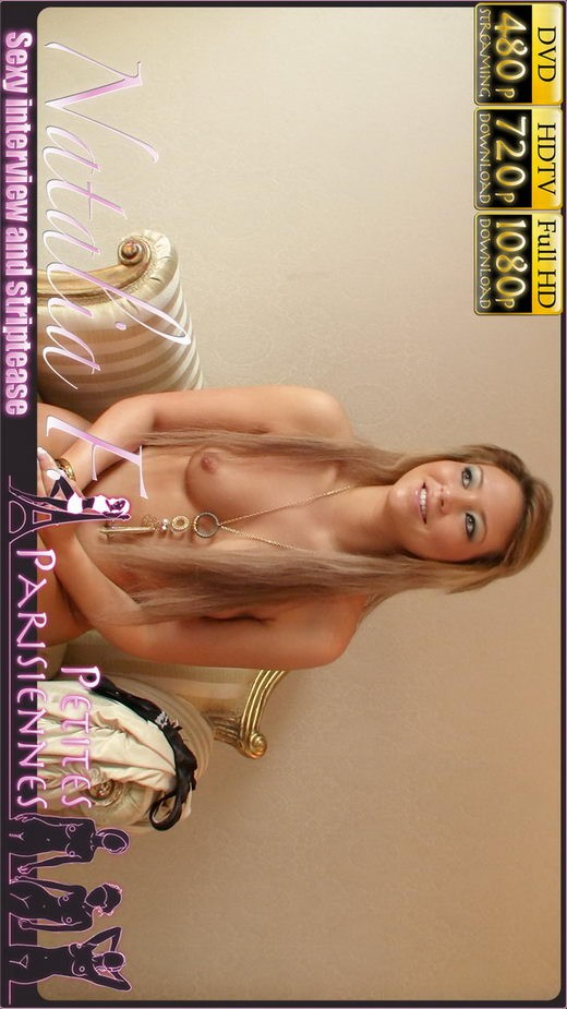 Natalia F - `Sexy Interview and Striptease` - by Jam Abelanet for PETITES PARISIENNES