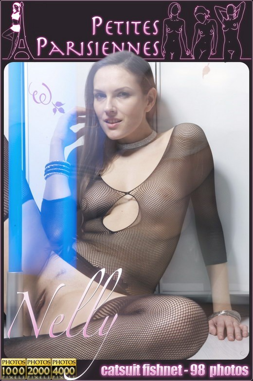 Nelly - `Catsuit Fishnet` - by Jam Abelanet for PETITES PARISIENNES