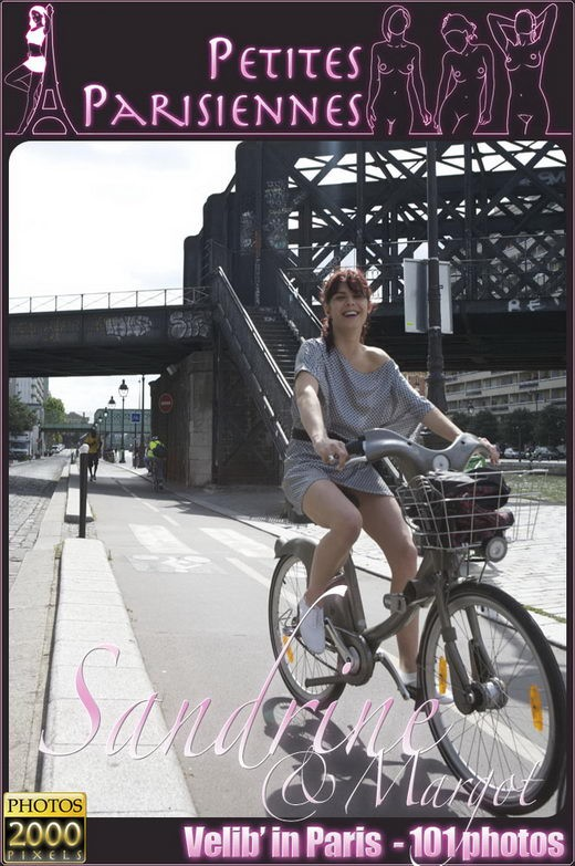 Sandrine - `Vellib in Paris` - by Jam Abelanet for PETITES PARISIENNES