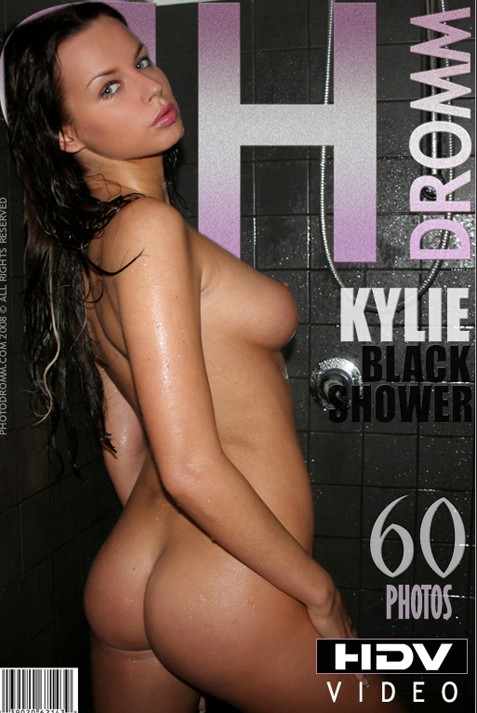 Kylie - `Black Shower` - by Filippo Sano for PHOTODROMM ARCHIVES