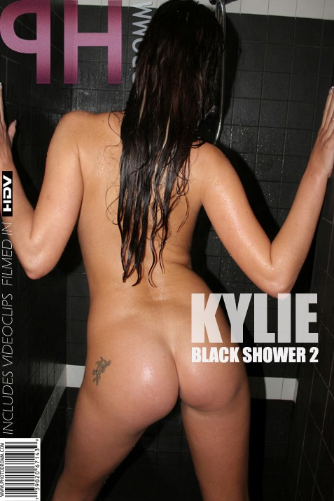Kylie - `Black Shower 2` - by Filippo Sano for PHOTODROMM ARCHIVES