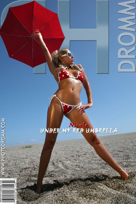 Nicole - `Under My Red Umbrella` - by Filippo Sano for PHOTODROMM ARCHIVES