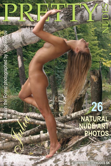 Julia - `In the Forest` - by Vlad Egorov for PRETTYNUDES
