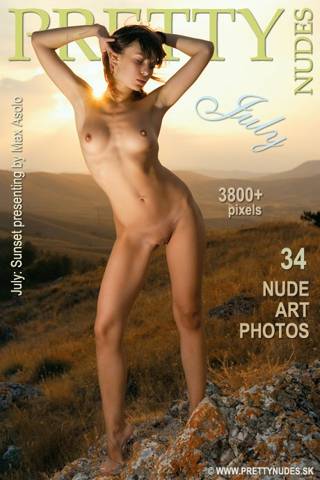 July - `Sunset` - by Max Asolo for PRETTYNUDES