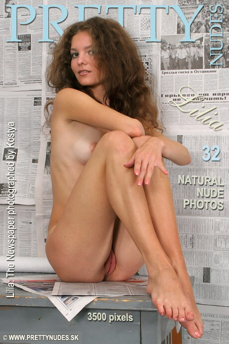Lilia - `The Newspapaer` - by Kostya for PRETTYNUDES