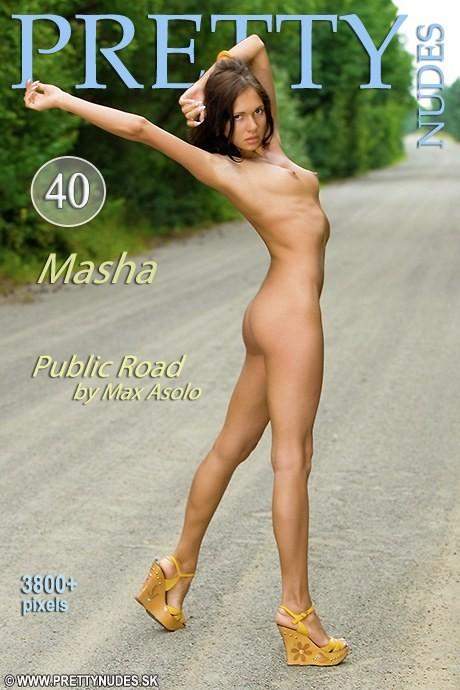 Masha - `Public Road` - by Max Asolo for PRETTYNUDES