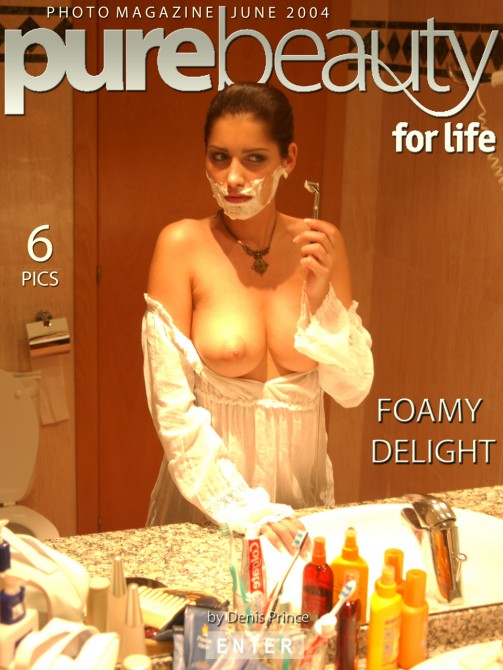 Stana - `Foamy Delight` - by Denis Prince for PUREBEAUTY