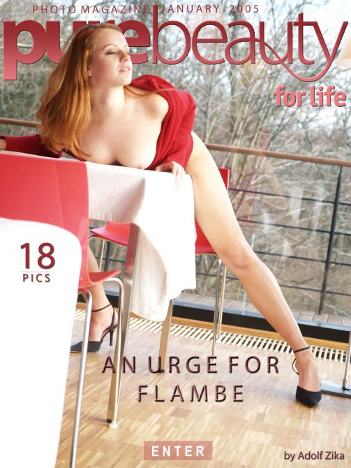 Sarka - `An Urge For Flambe` - by Adolf Zika for PUREBEAUTY