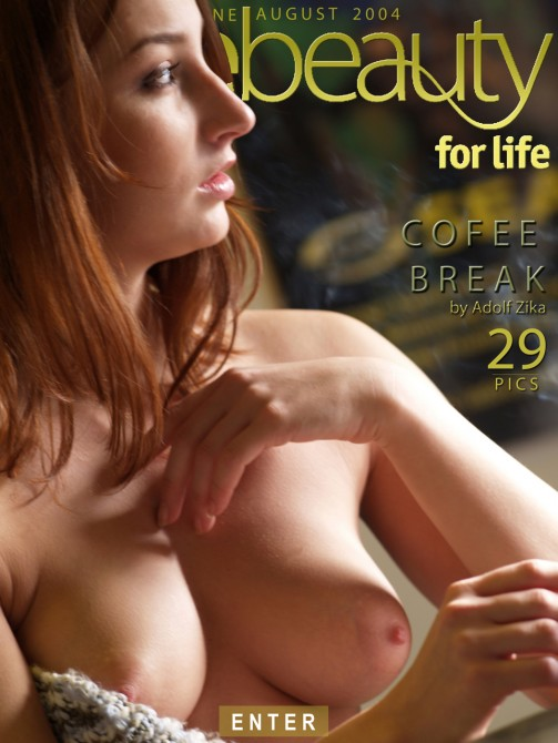 Eva M in Coffee Break gallery from PUREBEAUTY by Adolf Zika