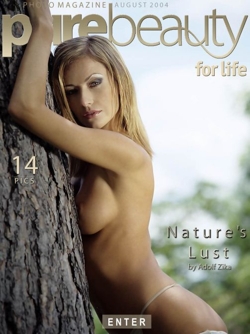 Denisa H - `Nature's Lust` - by Adolf Zika for PUREBEAUTY