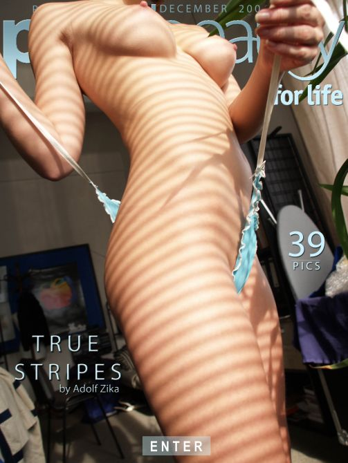 Eva M - `True Stripes` - by Adolf Zika for PUREBEAUTY