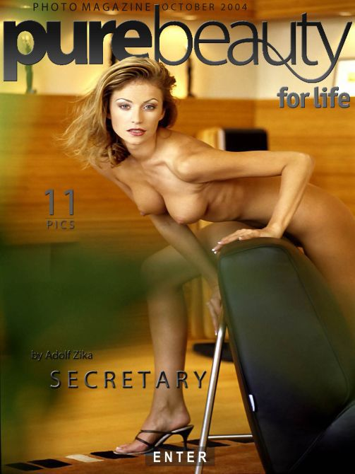 Denisa H - `Secretary` - by Adolf Zika for PUREBEAUTY