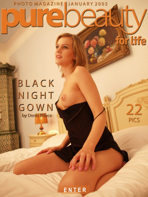 Dagmar in Black Night Gown gallery from PUREBEAUTY by Denis Prince