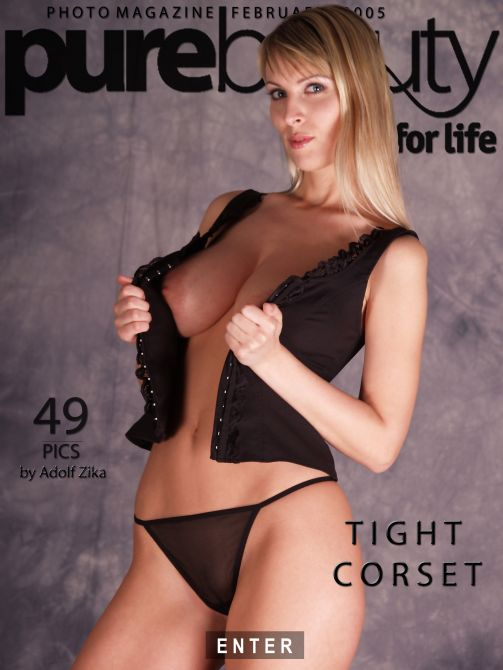 Milly - `Tight Corset` - by Adolf Zika for PUREBEAUTY