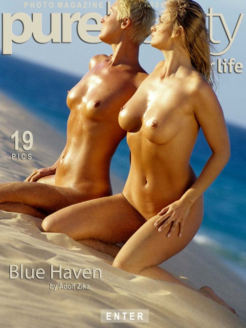 Vilma & Martina - `Blue Haven` - by Adolf Zika for PUREBEAUTY