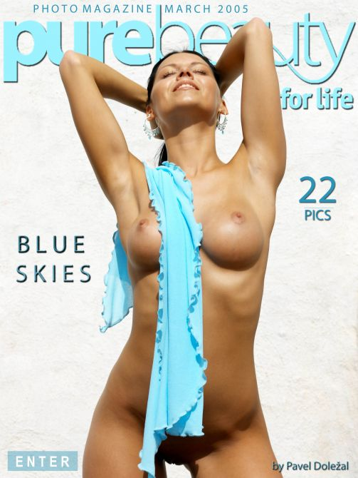 Ilona in Blue Skies gallery from PUREBEAUTY by Pavel Dolezal