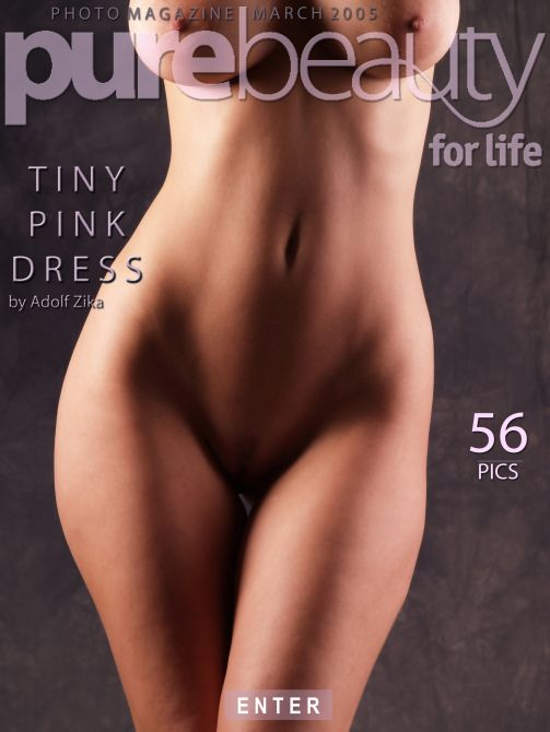 Milly in Tiny Pink Dress gallery from PUREBEAUTY by Adolf Zika