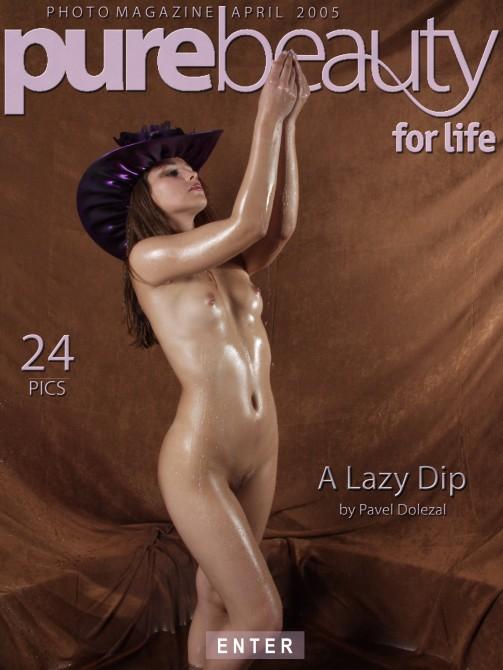 Kristyna - `A Lazy Dip` - by Pavel Dolezal for PUREBEAUTY